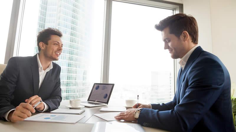 Beratungsgespräch im Unternehmen