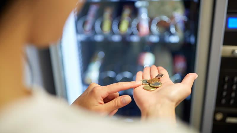 Geldeinwurfautomat klein